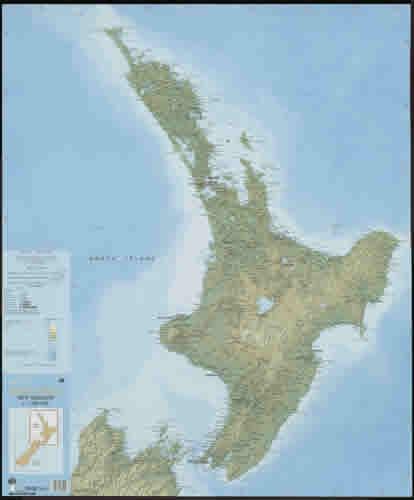 Carte nord nouvelle zelande