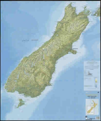 Carte sud nouvelle zelande
