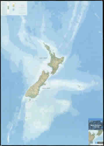 Carte eaux territoriales NZ