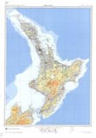 Carte relief nouvelle-zélande