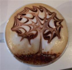 arbre art coffe lattee