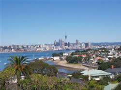 La ville d'Auckland en Nouvelle-Zélande