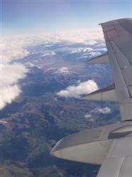 Vue de la Nouvelle Zélande par le Hiblot de l'avion
