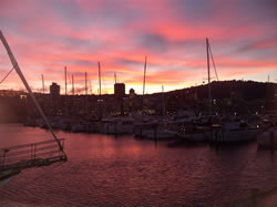 Le port rouge de Wellington