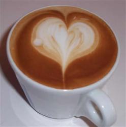 Coeur dans un café