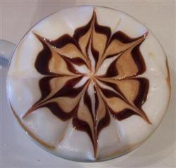 Une étoile en café