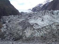 La glace du Franz Joseph Glacier