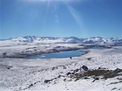 Le Lac Alexandrina sous la neige