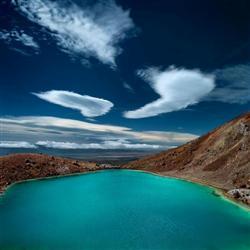 Les lacs emeraudes dans le Tongariro