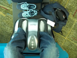 La machine à masser dans l'aéroport