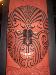 La statue Maori au musée d'Auckland