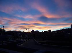 Les nuages rouges de Wellington