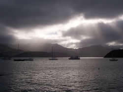 Le port d'Akaroa