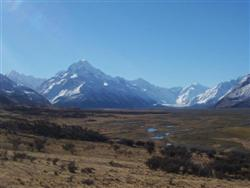 Mt Cook (3754m) et le Tasman Glacier