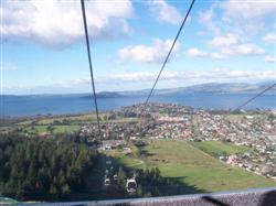 La gondola à Rotorua en Nouvelle-Zélande