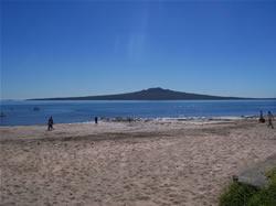 L'île de Rangitoto vu du Northshore